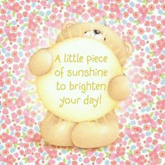 A little piece of sunshine to brighten your day Cute Teddy Bear Pics, Teddy Bear Quotes, Cute Bears, Good Morning Love Messages, Good Morning Greetings, Hug Images, Hug Quotes, Hugs And Kisses Quotes, Friend Quotes