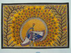 Madhubani Dancing peacock