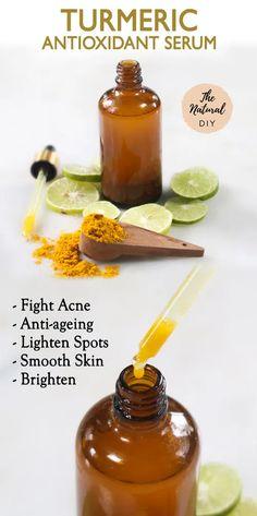 Homemade Skin Care, Diy Skin Care, Natural Beauty Recipes, Natural Recipe, Homemade Beauty Recipes, Face Serum Diy, Diy Vitamin C Serum, Antioxidant Serum, Even Out Skin Tone