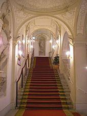 Stairway, Palais Kinsky, Vienna Beautiful Stairs, Walking Street, Stairway To Heaven, Street Signs, Dollhouse Furniture, Stairways, Vienna, Indoor, Building
