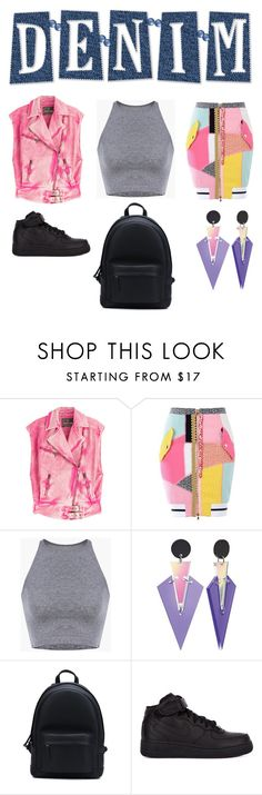 """Untitled #1022"" by campbell765 ❤ liked on Polyvore featuring Roberto Cavalli, Moschino, PB 0110 and NIKE"