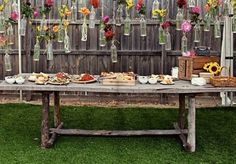 fab decor to spruce up an otherwise standard food table
