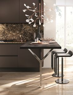DOMINA Cocina lineal by Aster Cucine diseño Lorenzo Granocchia
