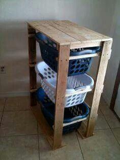 Laundry divider basket holder