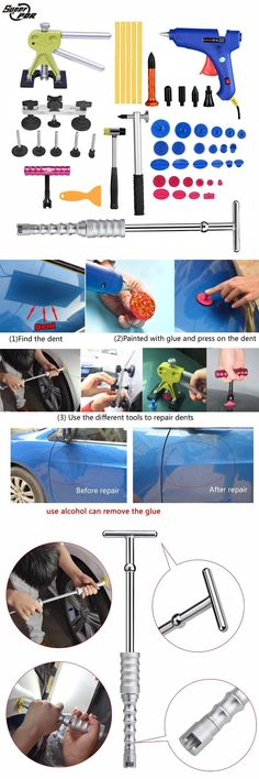 AOLVO Auto Body Paintless Dent Remover Knockdown Metal Tap Down PDR Tools DIY Kit for Car Dent Puller /& Hail Damage Removal Repair 5 Heads