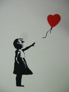 Banksy Girl With Red Balloon Unsigned By  | ArchesArt