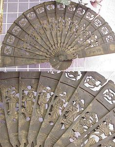 vintage Chinese fan {detail}