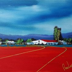 Original Paul van Rensburg: Acrylic on Stretched Canvas Queen's College, Cape Town South Africa, Stretched Canvas, Canvas Size, New Art, Van, African, The Originals, City