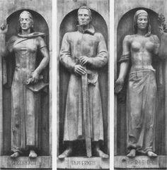 Gerechtigkeit, Tapferkeit, Friede (Justice, Valour, Peace) by Anton Grauel, 1938