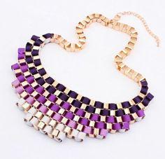 Fashion Vintage Womens Metal Bib Statement Necklace Chain Chunky Collar Party | eBay