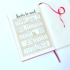 """Really cute design for a """"books to read"""" page.  See this Instagram photo by @that_journal • 140 likes"""