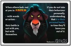 When others lash out at you in anger – with words or action – their battle is not with you, but with themselves. If you do not take their behaviour personally – understanding that it is their personal battle – in time they'll leave you out of it. (For more text click twice then.. See more) Abraham-Hicks Quotes (AHQ3098) #meditation CD #relationship