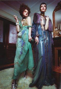 Vogue Germany, February 2013. Alberta Ferretti Spring/Summer 2013