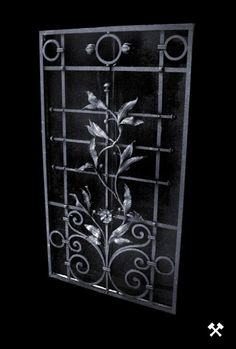 hand forged metal looks good anywhere. so charming. Metal Gates, Wrought Iron Gates, Metal Projects, Metal Crafts, Blacksmith Forge, Blacksmith Projects, Forging Metal, Iron Art, Iron Decor
