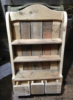Reclaimed wood. Spice rack