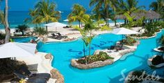 Sandals Negril Jamaica...our 2nd Honeymoon #20! Walk out pool room:)