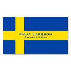 Spanish flag business cards spanish teacher cards pinterest swedish flag business cards swedish teacher business cards for swedish teachers tutors or any reheart Choice Image