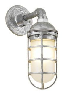 Check out the Atomic Topless Cast Guard Sconce in Wall Lights & Sconces from Barn Light Electric for Rustic Wall Lighting, Industrial Style Lighting, Industrial Light Fixtures, Rustic Wall Sconces, Rustic Lighting, Wall Sconce Lighting, Lighting Ideas, House Lighting, Bathroom Lighting