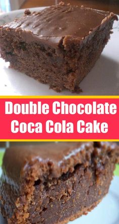 Double Chocolate Coca Cola Cake – What To Cook For Dinner Chocolate Coca Cola Cake, Chocolate Recipes, Just Desserts, Delicious Desserts, Yummy Food, Flan, Starbucks Lemon Loaf, Starbucks Recipes, Lemon Loaf Cake