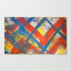 Painted Plaid Stretched Canvas by Rachel Winkelman - $85.00