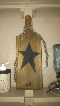 Cutting board...perfect prim star and some wax to bring out the character