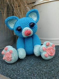 Blue cat pattern by patchwork Moose.