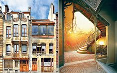 The insanely Art Nouveau Victor Horta house museum in Brussels, Belgium. No one picture can do it justice.