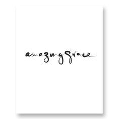 "Image of ""Amazing Grace"" Digital Print (White) Amazing Grace, Hand Lettering, Digital Prints, Typography, Inspiration, Image, Letterpress, Biblical Inspiration, Letterpress Printing"