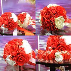 Фальш-букет в красном, wedding accessories wedding decor hand made