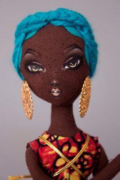 Lady Calypso Pidgin Pose Doll by PidginDoll on Etsy