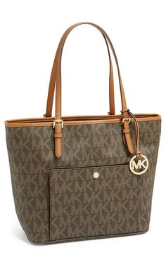 50c61bc82695 MICHAEL Michael Kors 'Large Jet Set'( in vanilla) Signature Snap Pocket Tote  available at