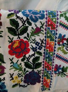 F Hardanger Embroidery, Folk Embroidery, Learn Embroidery, Cross Stitch Embroidery, Embroidery Patterns, Cross Stitch Patterns, Palestinian Embroidery, Diy And Crafts, Arts And Crafts