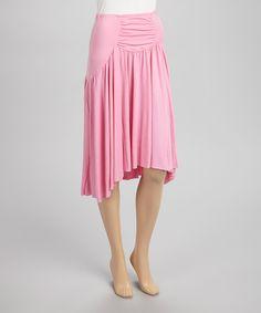 Love this Quiz Pink Ruched Hi-Low Skirt by Quiz on #zulily! #zulilyfinds