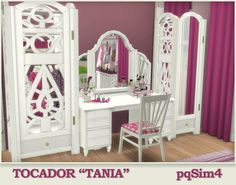 Sims 4 CC's - The Best: Tania vanity by pqSim4