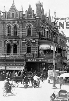 Fondly known for occupying the Beehive Building on Adelaide's Rundle Mall, Haigh's Chocolates became an instant institution in the city of churches almost from the very day Alfred E Haigh established his shop there in Adelaide South Australia, Melbourne Victoria, Beehive, Victorian Era, Historical Photos, Old Photos, Big Ben, Rundle Mall, The Past