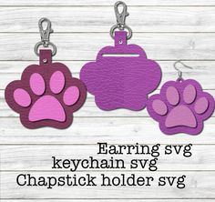 Keychain Design, Diy Keychain, Leather Keychain, Chapstick Holder, Cricut Tutorials, General Crafts, Cricut Vinyl, Digital Invitations, Embroidery Files