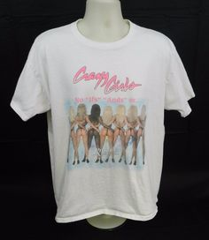 Crazy Girls Sexy Butts Riviera Hotel & Casino Signed Tee Shirt Sz XL (Stk#A44) #FruitoftheLoom #CrewNeck