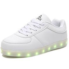 ec4e1d6c43f PEAK Multi-Color LED Light Up Shoes with USB Charging for Little Kid Big Kid  New Haven