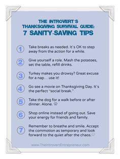 "The Introvert's Thanksgiving Survival Guide. I wish more people knew I was doing this instead of calling me ""antisocial"""
