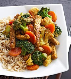 Thai Pork Stir-Fry   30 Minute Meal: Ginger, cardamom, and curry powder are just some of the many spices that lend flavor to the pork in this quick and easy dinner.