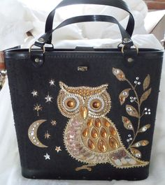 Vintage Enid Collins Owl Purse Satchel 1960'S