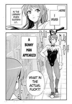 Anime Meme, Funny Anime Pics, Manga Anime, Bunny Man, Manga Pages, Stupid Funny Memes, Mood Pics, Funny Comics, Funny Cute
