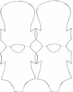 Baby bottle pattern. Use the printable outline for crafts