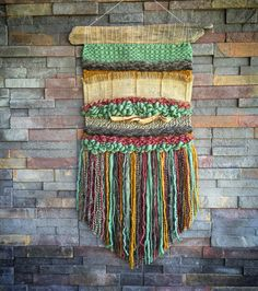 Items similar to Woven wall hanging on Etsy Weaving Textiles, Weaving Art, Tapestry Weaving, Loom Weaving, Hand Weaving, Textiles Techniques, Weaving Techniques, Weaving Wall Hanging, Wall Hangings