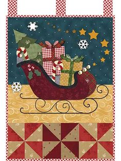 """Christmas never looked so good! This festive and cheerful wall hanging is sure to bring joy and merriment to any room in your home! Finished size is 12 1/2"""" x 18""""."""