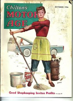 Chilton's Motor Age, October 1956. (Cover art by Charles S Bradley)