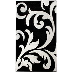 Contemporary Black Damask Rug 7-Foot 10-Inch x 9-Foot 10-Inch Designer... ($179) ❤ liked on Polyvore featuring home, rugs, contemporary rugs, black area rugs, black rug, contemporary area rugs and modern contemporary rugs
