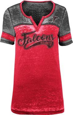 45c458bd4 Team Apparel Women s Atlanta Foil Burnout V-Neck T-Shirt