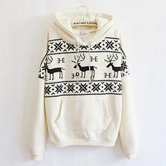 Hoody Fawn Casual Long Sleeve Sweater