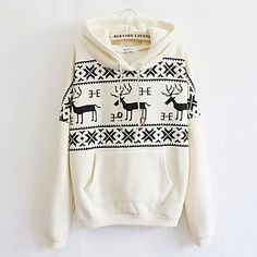 Hoody Fawn Casual Long Sleeve Sweater